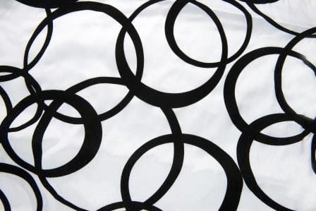 What the Flock? Black & White Circles Linen