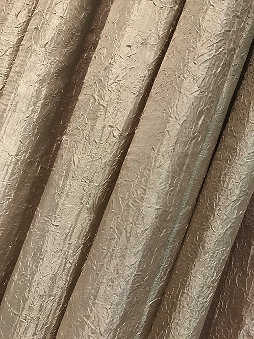 Iridescent Crush Khaki Specialty Drape Panel 12'