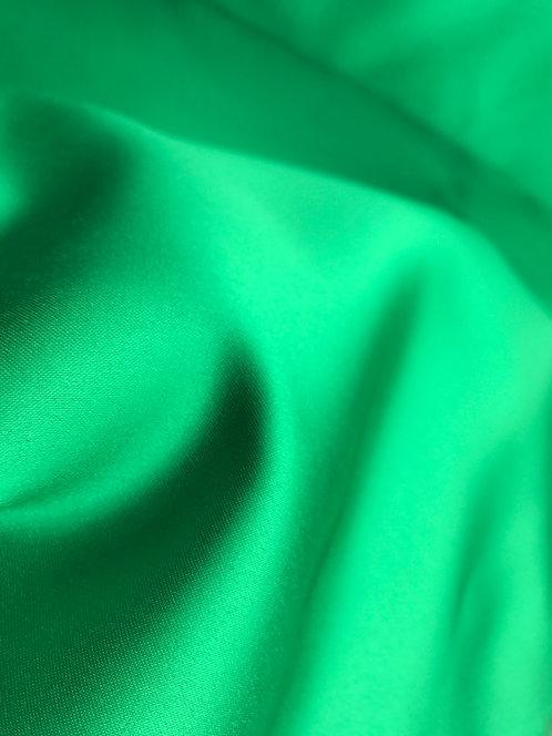 Matte Satin Shamrock Green Linens