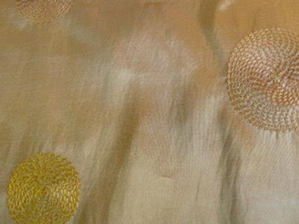 Circle Taffeta Gold Linen