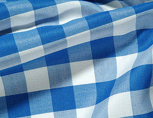 Gingham Check Royal & White Linens