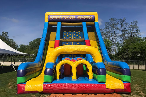 Inflatable Vertical Rush Rockwall Slide