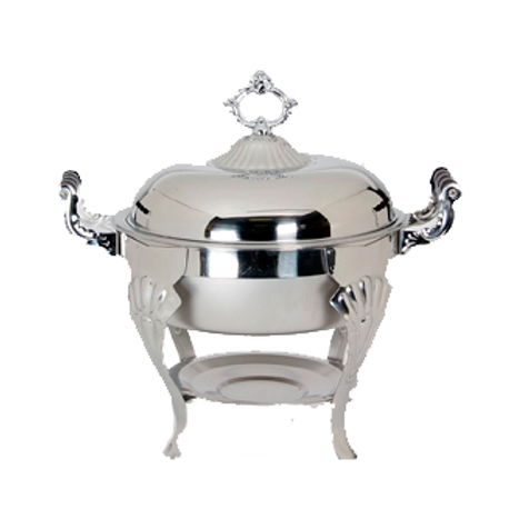Full Chafer Deluxe Stainless Steel Round Lift Top 6 quarts