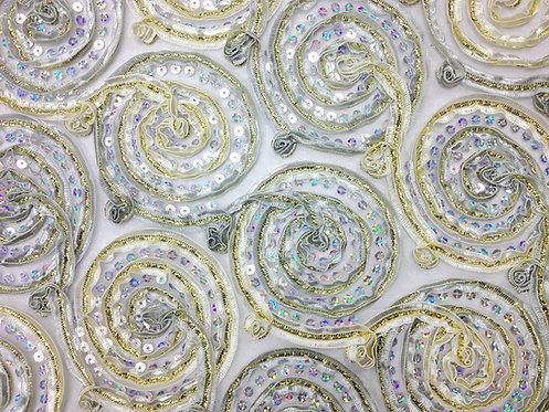 Studio 54 Silver & Gold Sequin Circle Linen