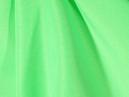 Solid Poly Neon Green Linen