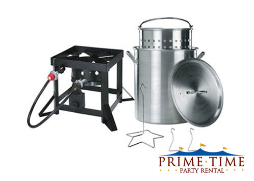 This backyard turkey fryer / steamer kit includes all the parts and  accessories you need to make a moist, delicious, deep fried turkey up to 20  lb. - Turkey Fryer Kit