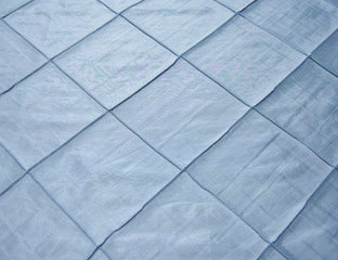 Pintuck Taffeta Light Blue Linens