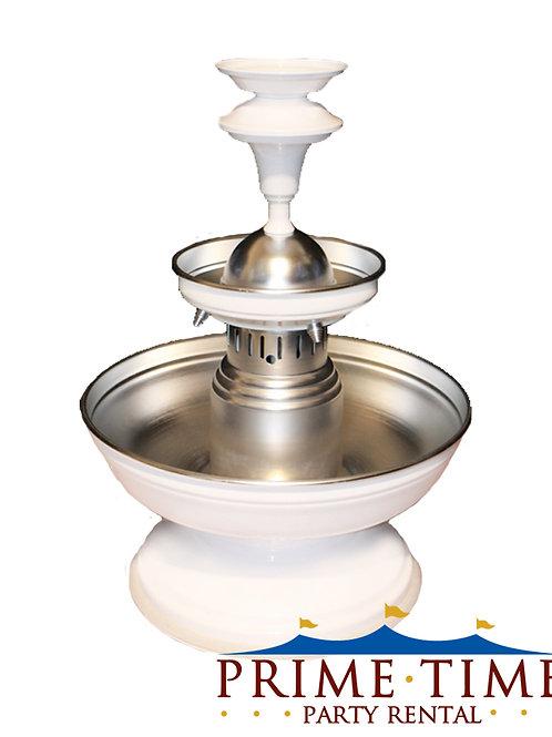 White Aluminum Beverage Fountain 5 gallon