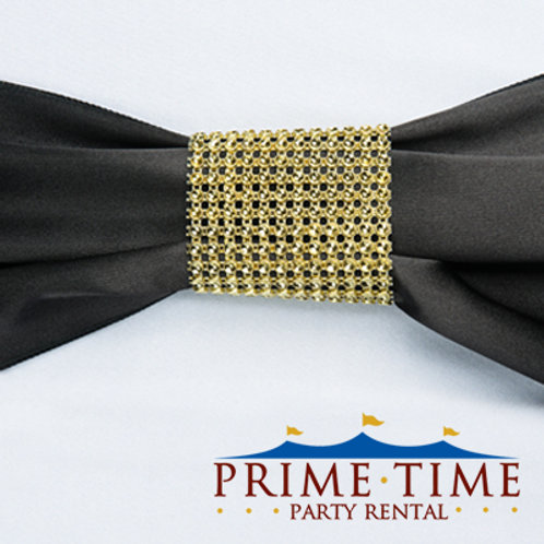 Gold Mesh Rhinestone Ring