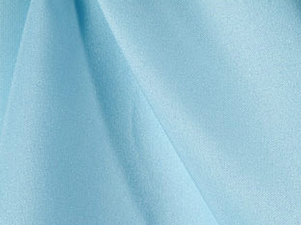 Solid Poly Light Blue Linen