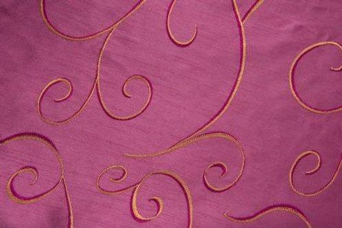 Nova Swirl Fuchsia Linen