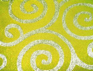 Metallic Scroll Lime & Silver Linens