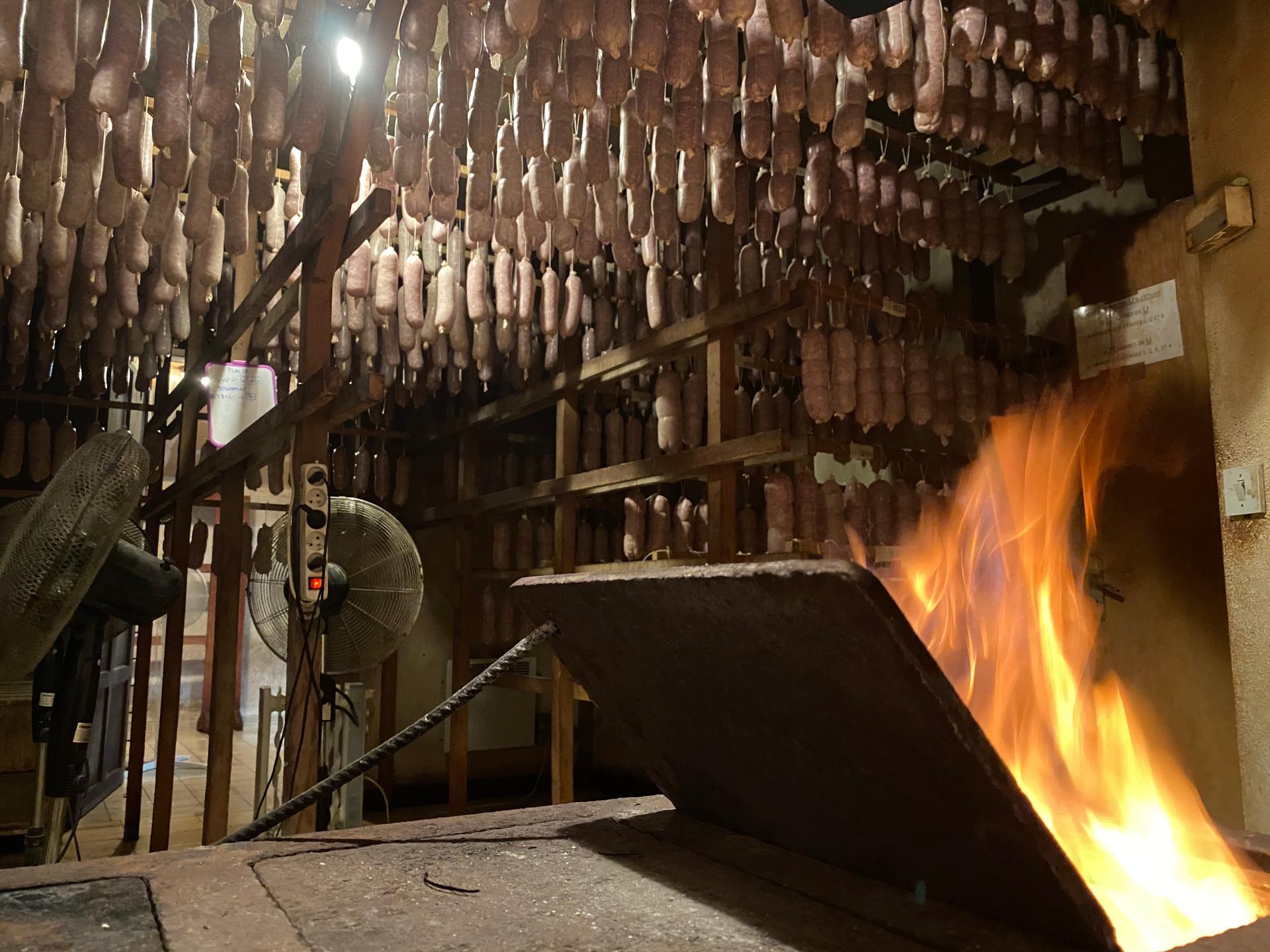 Étuvage au feu de bois