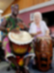 Aged care drumming