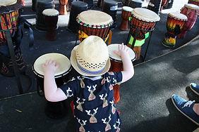 African drumming in schools