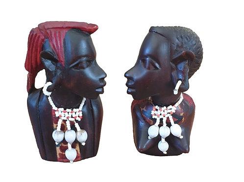 Small Masai Busts (Pair)