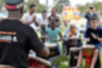 Drum circles at community events