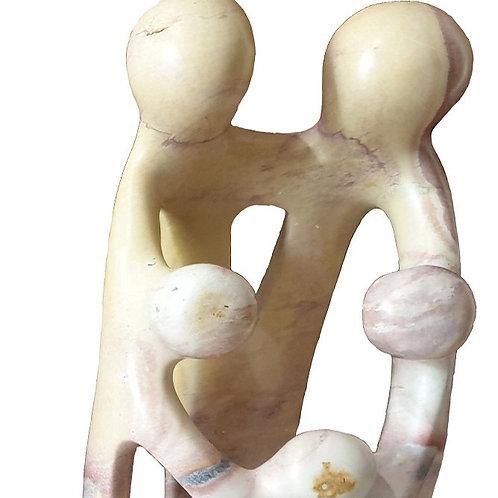 Soapstone Figurine - Family Unity
