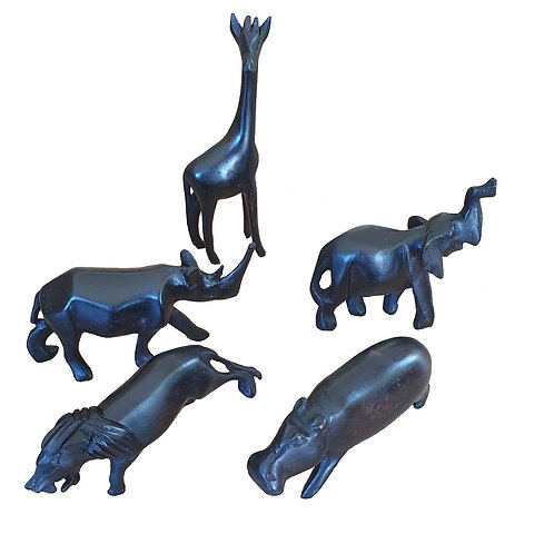 Small wooden animals (black)