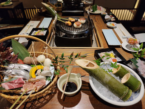 Delicacies Grilled on a Sword Point at Tatsumikan