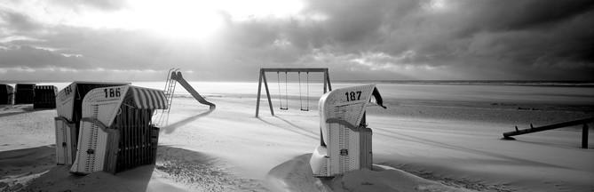 Panoramafotografie Insel Spiekeroog analog auf 6x17cm