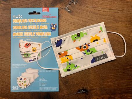 Neu im Shop: Textilmasken für Kids und Erwachsene