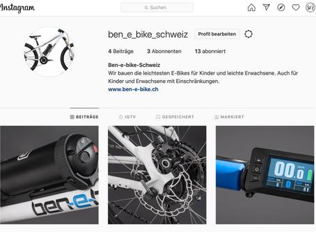 Ben-e-bike Schweiz neu auf Facebook und Instagram