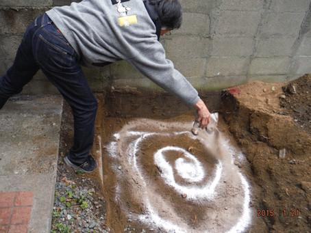 イヤシロチ施工・大牟田市内・炭素埋設の一例