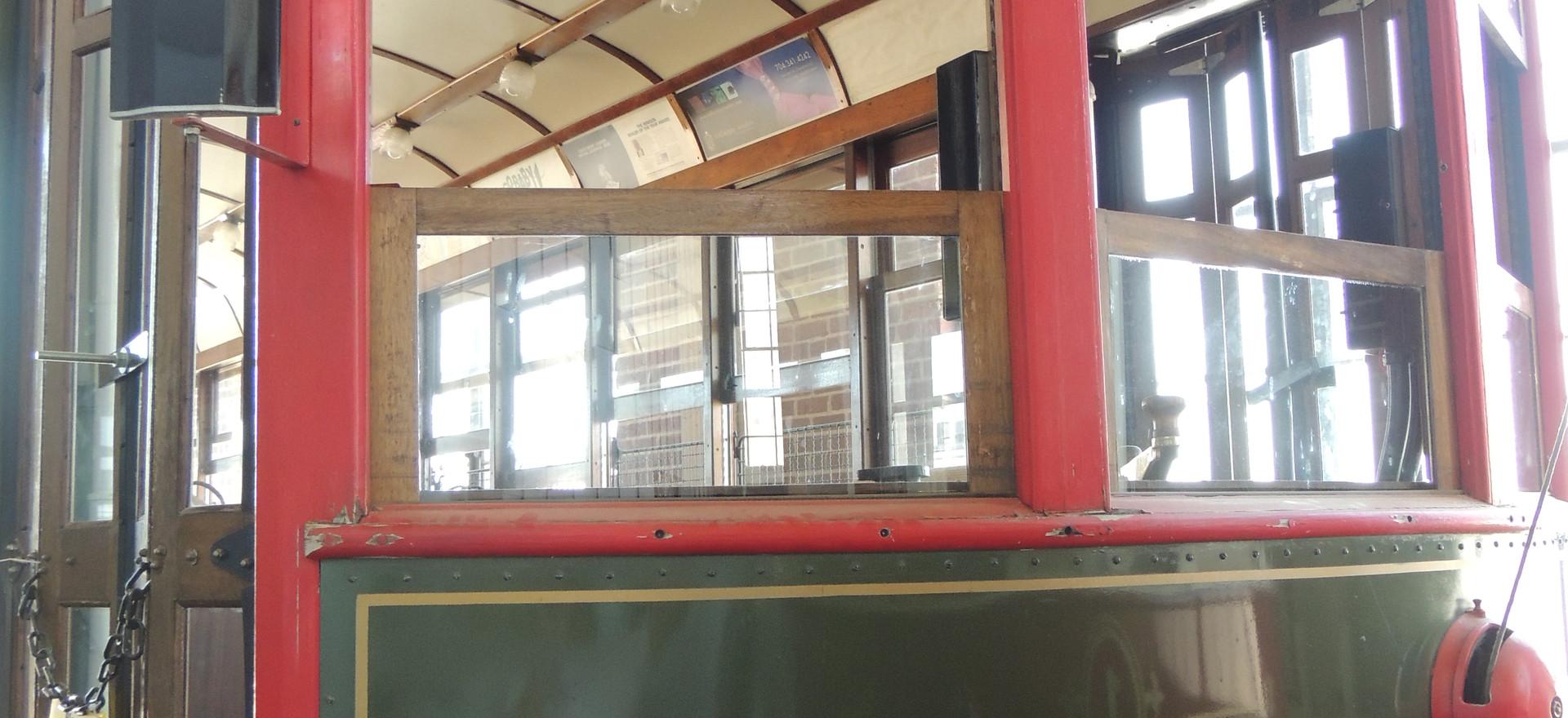 Rear view of Trolley Car #85