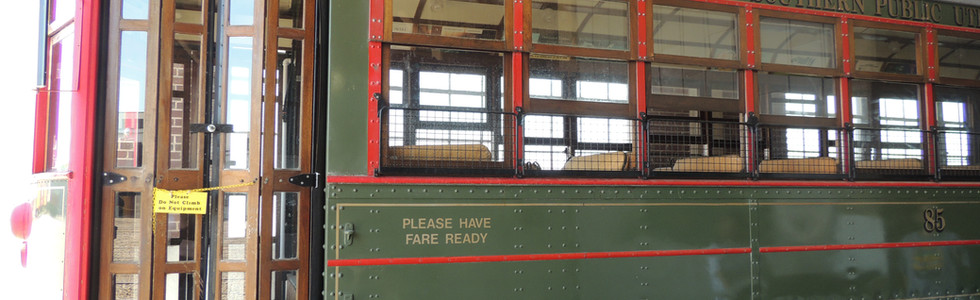 Side view of Trolley Car #85