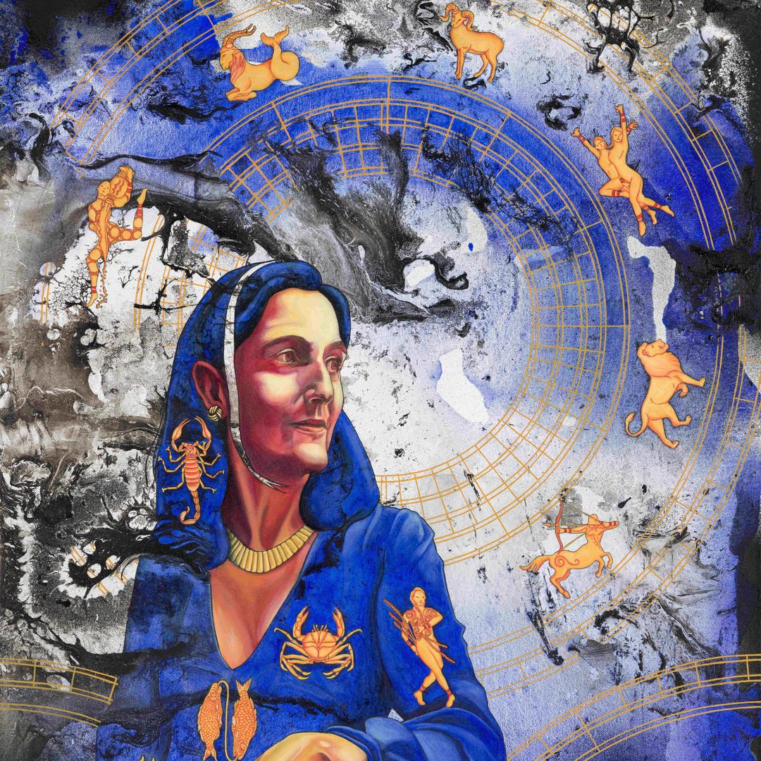 Maman sur Fond de Ciel Astrologique