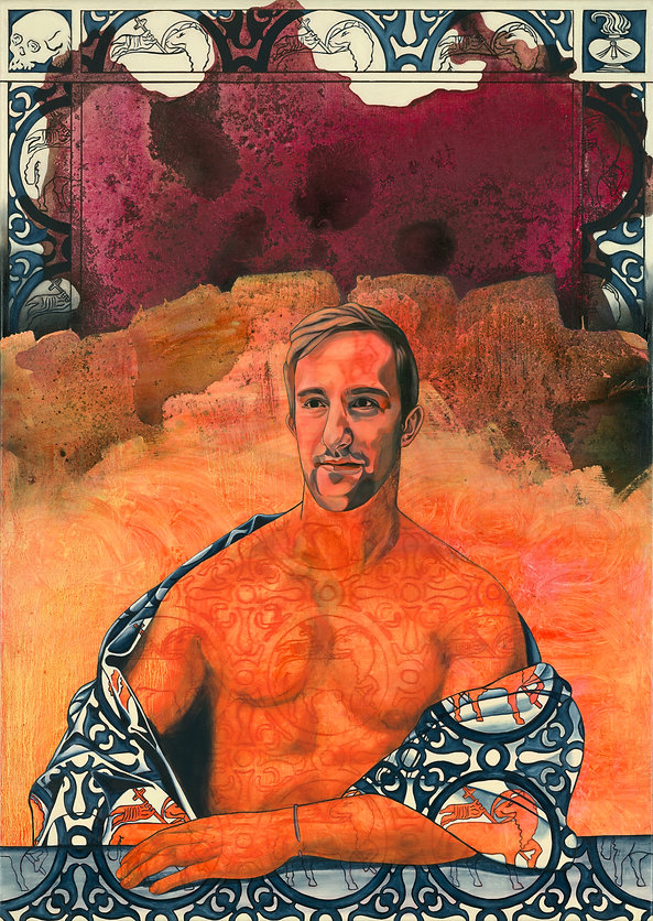Jean Baptiste, oil and acrylic on canvas