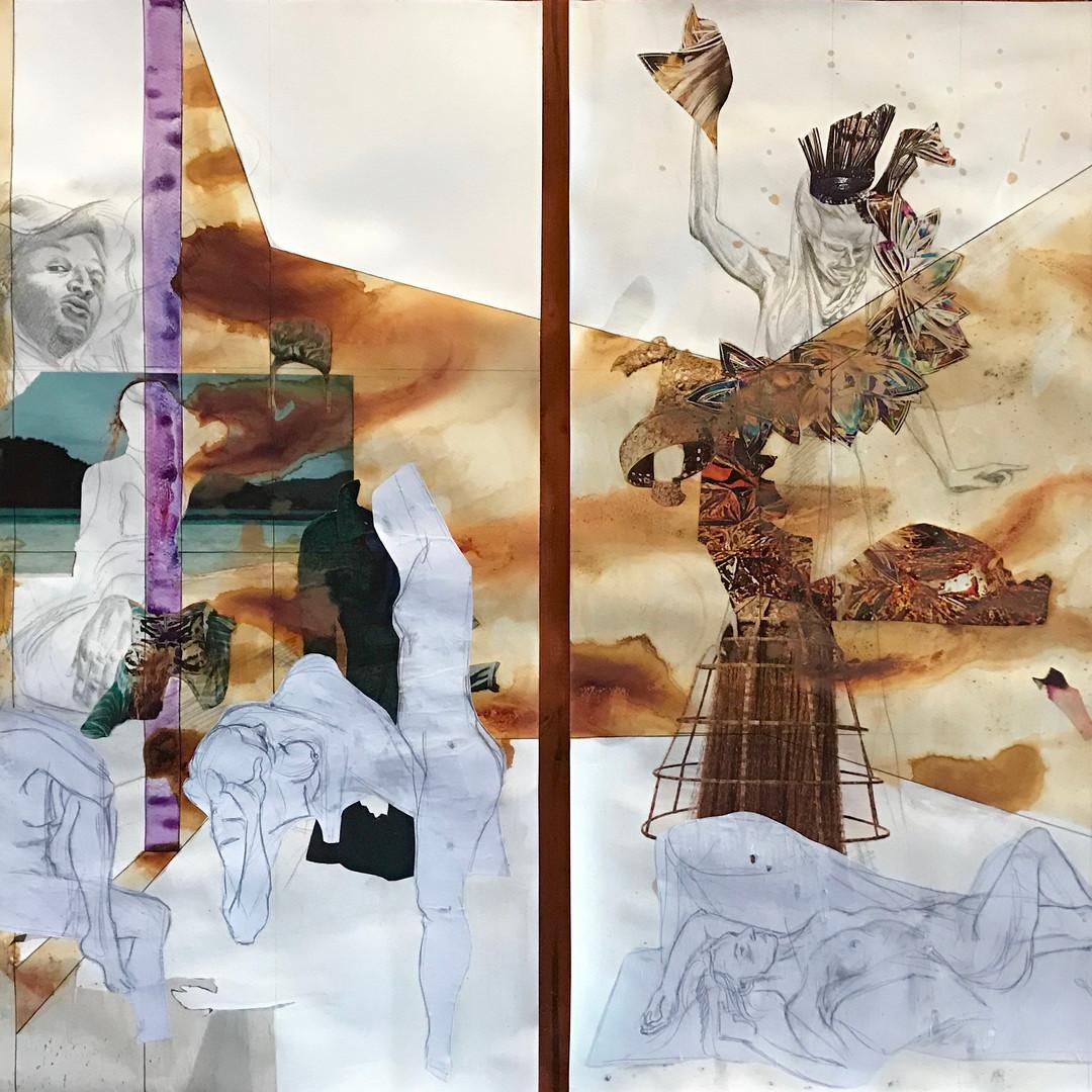Untitled (Frieze 3) and Untitled (Frieze 4),
