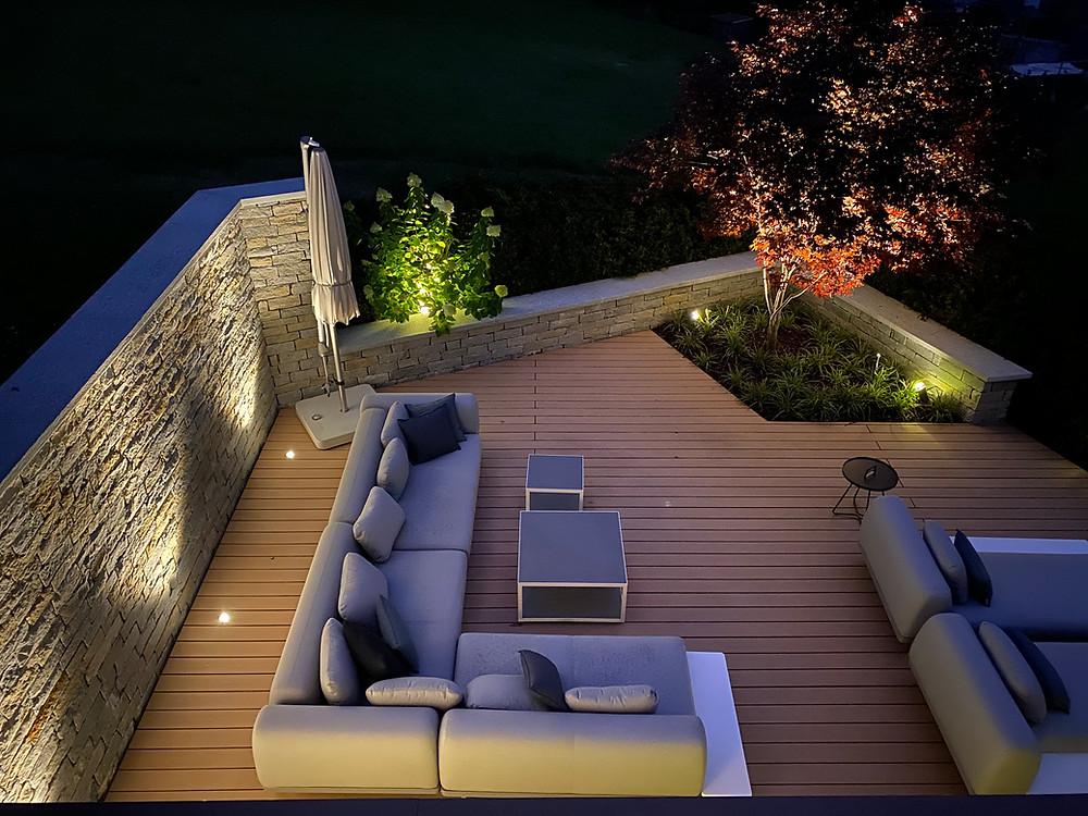 Lounge Bereich beleuchtet