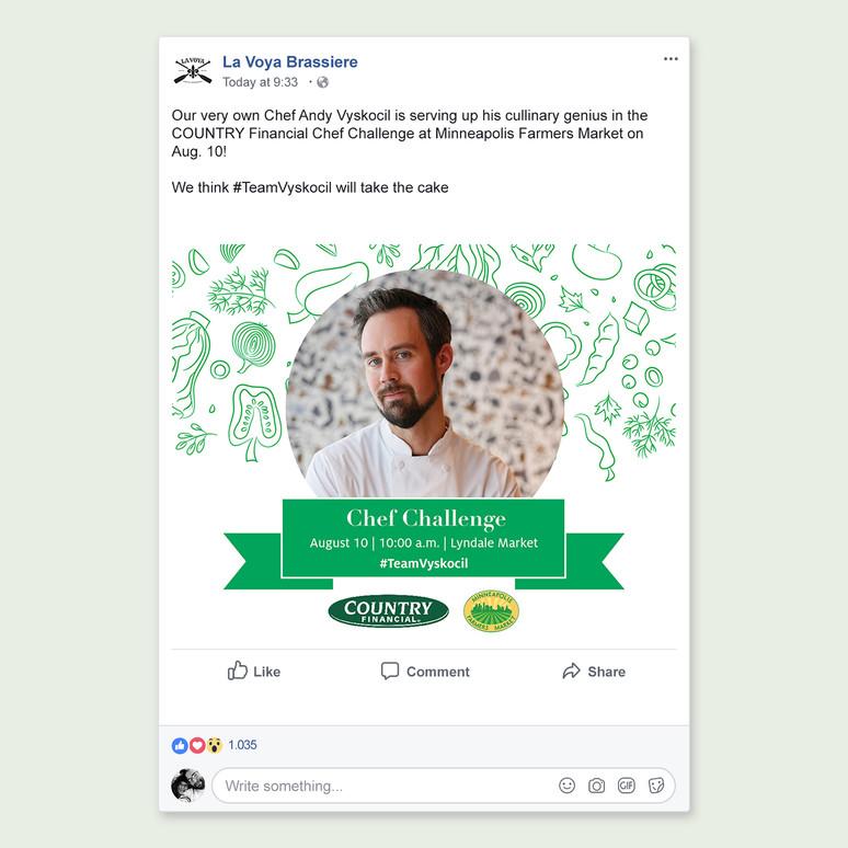 Chef Challenge Social Media