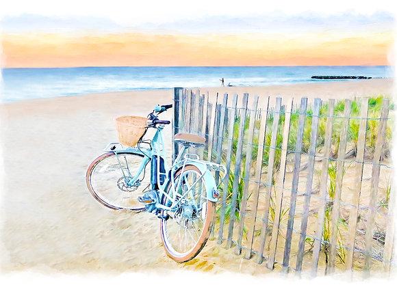 Beach Cruiser and Fence