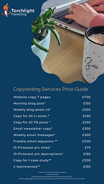 Copywriting services for small businesses