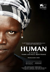 Image of the movie poster for Human. It shows a woman's face.