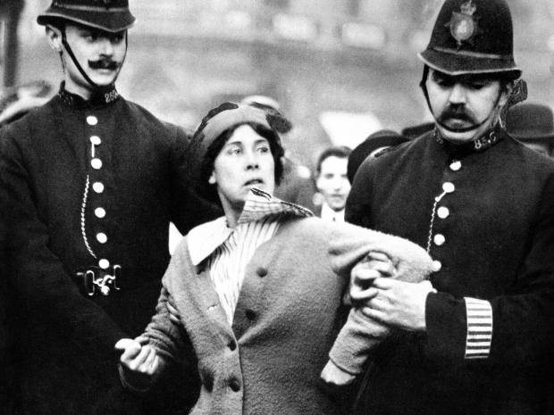 Suffragette being arrested