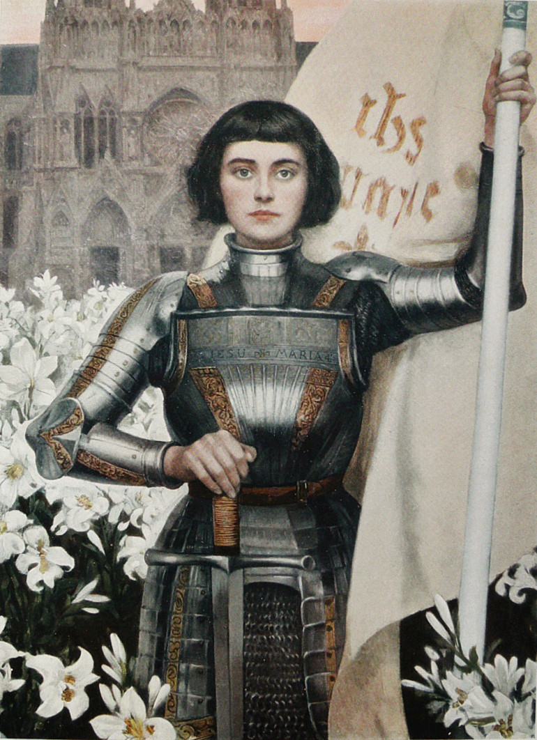 Joan of Arc thinking about maths