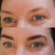 Henna Brows  before & after using _super