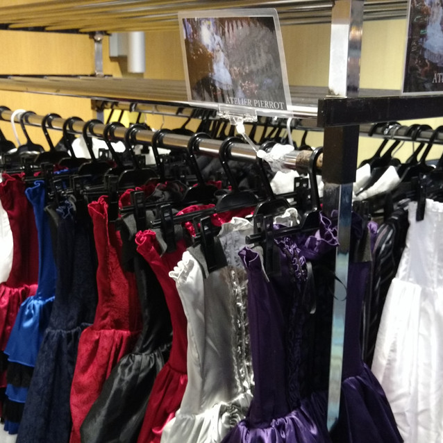 The stock of beautiful dresses!
