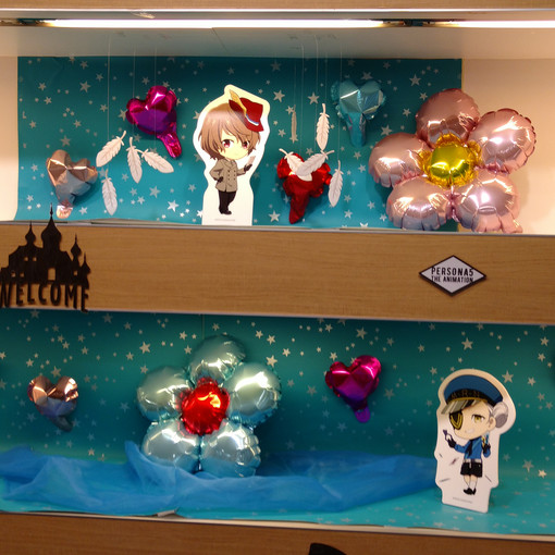 Some more character displays around the cafe!