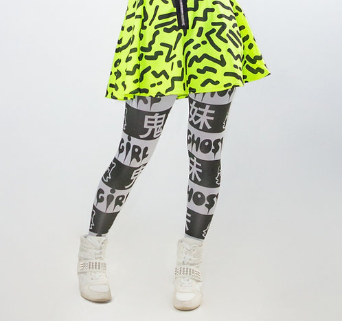 GHOST GiRL Printed Tights