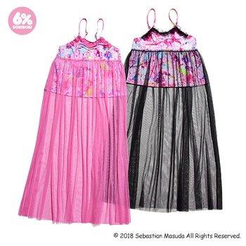 6%DOKIDOKI - See-Through Long Camisole Dress