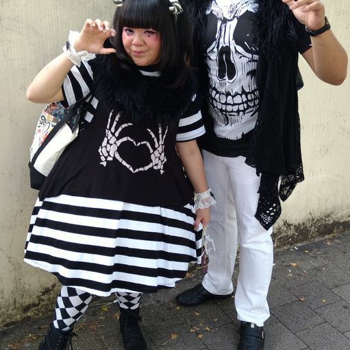 This couple was from Las Vegas! We matched perfectly because we were all wearing black and white.