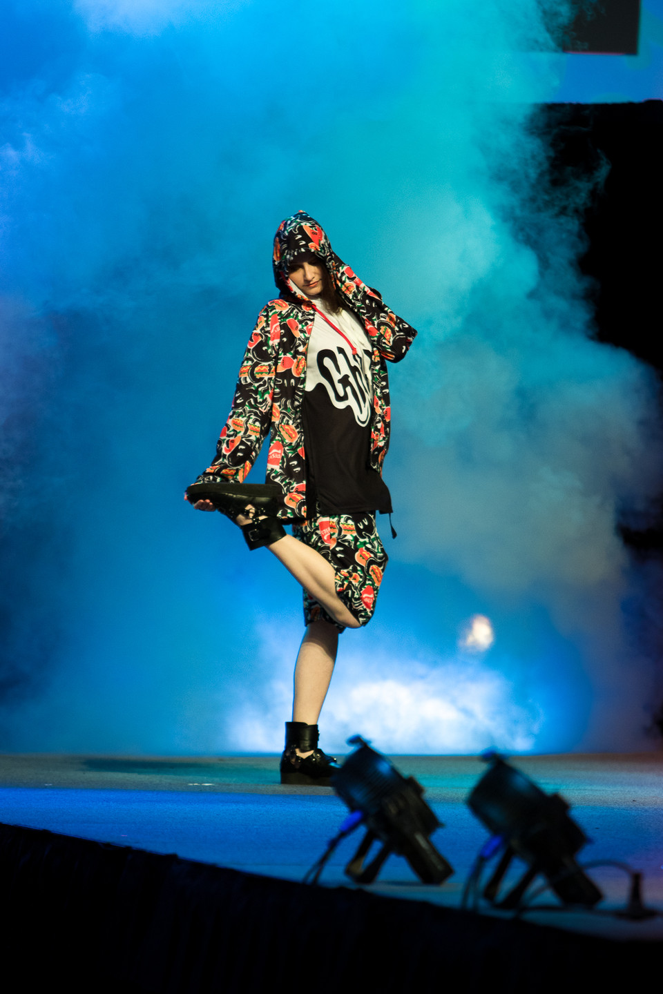 NUEZZZ x GHOST GiRL GOODS Collab Fashion Show at Tekko 2019 J Fashion Japanese Brand colorful