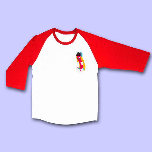 NUEZZZ - KIDPUP G-Dog Raglan Long Sleeve T-Shirt