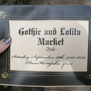 Gothic and Lolita Market 2nd - Saturday Sept. 28th