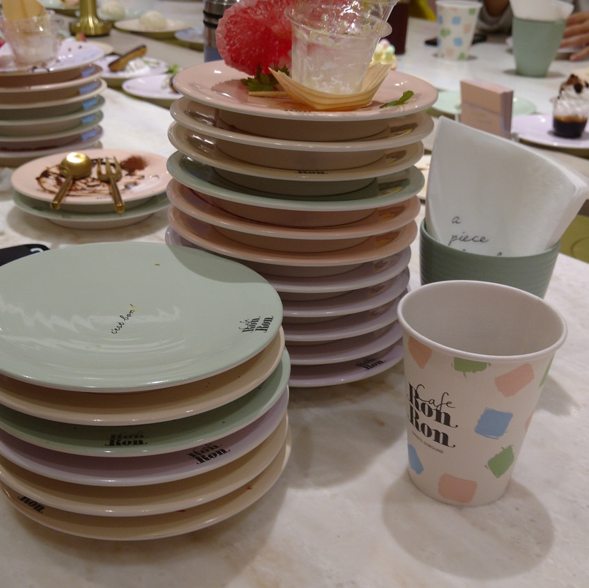 17 plates later.....I think I did good LMAO Definitely got my money's worth (It was 1,700 yen after we added them on LINE chat....so 100 yen per plate!)